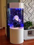 Aquarium cylindrique 100 L Blanc