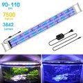 BELLALICHT Éclairage LED pour Aquarium Lampe Rampe 180 LED Aquarium d'eau Douce RGBW ou Bleu Lumieres 31W LED pour 90-110CM...