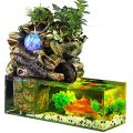 KHTO Aquarium Fish Tank Paysage Artificiel Rockery Fontaine d'eau avec Boule Ornements Salon Salle De Bureau Lucky Home Bar Décoration