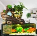 Ximosi Aquarium Fish Tank Paysage Artificiel Rockery Fontaine D'eau Avec Boule Ornements Salon Salle De Bureau Chanceux Accueil Bar Décoration...